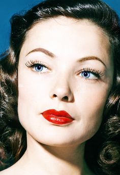"Gene Tierney - ""Undeniably the most beautiful woman in movie history."" Darryl F. Zanuck #celebrities"