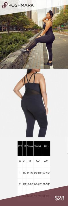 Fashion to Figure Vinyasa Active Bodysuit From dance to pilates to yoga, the Vinyasa plus size active bodysuit does it all with a super-stretchy fit. Sheer mesh panels plus a strap-happy back add on a sporty edge. Very stretchy! Sold out online!  It is too loose on my waist. Fashion to Figure Pants Jumpsuits & Rompers