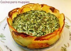 Tarta de espinacas #vegano #receta #saludable #light