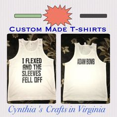 #Repost @cynthiascraftsinvirginia with @repostapp.  We do custom made t-shirts for any occasion  #repost #custommade #tshirts #iflexedandthesleevesfelloff #personalization #familyset #grouptshirt #cynthiascraftsinvirginia #personalized #personalizedgifts