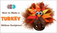 Learn how to make this cute Turkey Ribbon Sculpture! Don't forget to check out our specials! http://www.theribbonretreat.com/custom/specials.aspx Turkey Ribb...