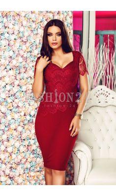 Rochii de Nasa Superbe   Modele Lungi si Scurte (Colectia 2018) Red Lace, Nasa, Bodycon Dress, Formal Dresses, Fashion, Red Ribbon, Dresses For Formal, Moda, Body Con