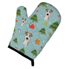 Caroline's Treasures Christmas Wire Haired Fox Terrier Oven Mitt