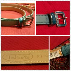 """GIFTED TO A FAB POSH CUSTOMER Talbots Leather Beautiful sky blue belt by Talbots in size XS, is 30"""" long. New with tags.  Check out my other belts. Talbots Accessories Belts"""