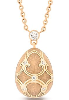 Faberge Heritage Fine Jewellery Egg Pendant Palais Tsarskoye Selo White Small #fabergé #necklaces