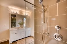 Glass shower doors for a modern touch 🚿 And the neutral tile shade is 👌#renovationspot . . . . . #discoveratl #atlantahomebuilder #atlantahomerenovations #homerenovations #interiorrenovation #supportlocal #homeinspo #renovations #exteriorrenovation #atlantahomes Master Shower, Master Bath, Bathroom Renovations, Home Renovation, Atlanta Homes, Glass Shower Doors, Modern Farmhouse, Bathtub, Tile