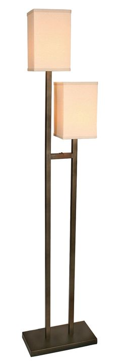 "Two Steps, Floor Lamp 72"" H."