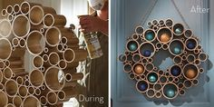 PVC Pipe Wreath - Home Depot [http://styleguide.homedepot.com/fall2012/projects-index/]