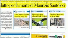 Rassegna stampa umbra dell'8 gennaio 2017 prime di copertina dall'Umbria