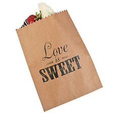 Just found Love is Sweet Paper Candy Bags: 50-Piece Pack @CandyWarehouse, Thanks for the #CandyAssist!