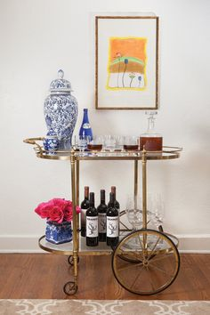antique brass bar cart for sale - Αναζήτηση Google