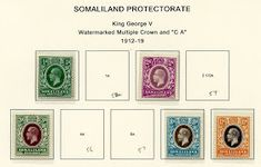"""1912 Scott 58 light blue & black """"George V"""" Quick History The Somaliland Protectorate (British Somaliland) bordered on the Gulf of A. King George, Commonwealth, Stamps, Gallery Wall, British, History, Big, Seals, Stamp"""