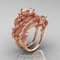 Nature Classic 14K Rose Gold 1.0 Ct Morganite by DesignMasters
