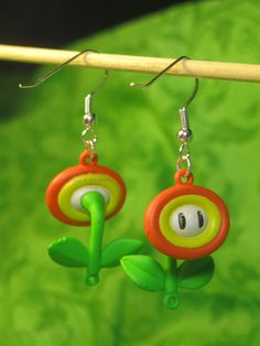 Super Mario Earrings - Fire Flower!!!