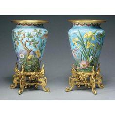 A Pair of Cloissonne Enamel Vases