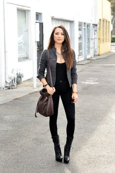 boots with skinny jeans and blazer