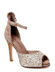 Sofie Schnoor High Sandal W Thin Heel (Taupe Leo)