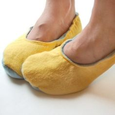 Create your own cozy slippers, using flannel scraps or even leather.