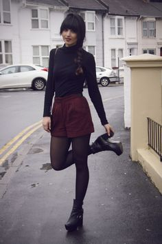Love the outfit. Keep the boots. I'm getting tired of flats-footed girls.