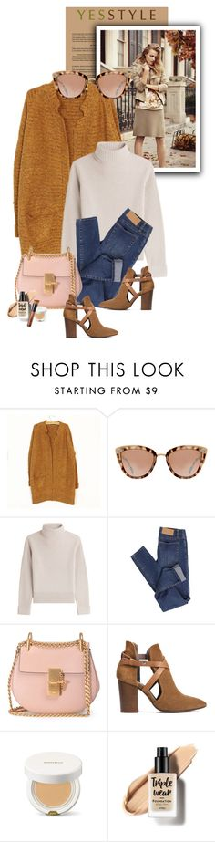 """""""YESSTYLE.com"""" by monmondefou ❤ liked on Polyvore featuring Ann Taylor, Vanessa Seward, Cheap Monday, Chloé, H London, Winter, ootd, cardigans and yesstyle"""