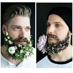 men with flower beard trend Hipsters, Moustaches, Bart Trend, Glitter Beards, Flower Beard, Hipster Pattern, Photo Images, Latest Mens Fashion, Male Fashion