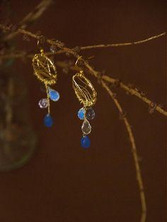 Dreaming in blue / bobcek - SAShE. Charmed, Drop Earrings, Bracelets, Blue, Jewelry, Jewlery, Jewerly, Schmuck, Drop Earring