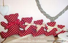 Teddy Bears for Christmas by Coccinellepazze Handmade ninitell.p@gmail.com