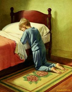 Young boy saying prayers. Religious Pictures, Jesus Pictures, Religious Art, Art Amour, Bedtime Prayer, Catholic Kids, Christian Art, Faith In God, You Are The Father