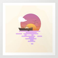 Sunset Art Print by Moremo
