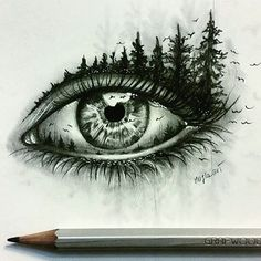 Double Exposure Eye  By @majla_art _ @arts__gallery
