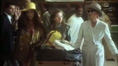 Absolutely Fabulous Series 2 Morocco.  Patsy Stone and Edina Monsoon faint on arrival in Morocco due to the heat.