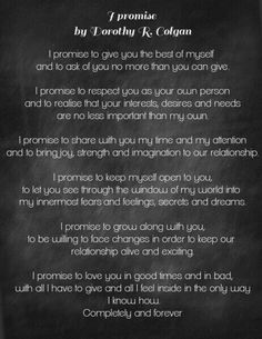 Take a look at the best cute wedding vows in the photos below and get ideas for your wedding! 13 Nontraditional Wedding Vows That Will Make You Believe In Love Again Image source This could be the perfect wedding vows… Continue Reading → Wedding Ceremony Readings, Wedding Ceremony Script, Wedding Poems, Lesbian Wedding, Love Readings For Wedding, Rustic Wedding, Wedding Prayer, Wedding Speeches, Lesbian Couples
