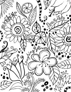 doodles /// Just give me a pen and paper .These doodles are beautiful. Tangle Doodle, Doodles Zentangles, Zen Doodle, Doodle Art, Doodle Coloring, Colouring Pages, Adult Coloring Pages, Coloring Books, Doodle Inspiration