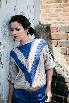 Vphee Sweater by Rohn Strong, Inside Crochet issue 43 | Inside Crochet