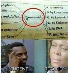 Funny School Memes, Crazy Funny Memes, Really Funny Memes, School Humor, Funny Relatable Memes, Haha Funny, Funny Texts, 9gag Funny, Funny Stuff