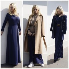 Robe bleu marine hijab