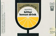 Retro Sainsbury's label: Bitter lemon drink