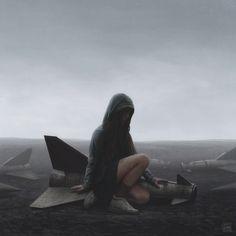 Mit seinen faszinierenden Science-Fiction-Dystopien verbindet Yuri Swedoff physisches mit digitalem Kunsthandwerk.