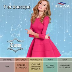 Good looks are their virtue and they are always 'Pretty in Pink'! #INVIYA® adores the tenacious Taurus!  #Trendoscope #Taurus