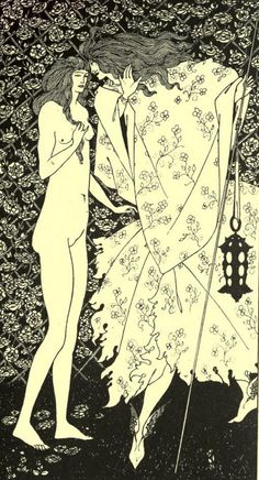 Illustration by Aubrey Beardsley (1872-1898), ca. 1895, The Mysterious Rose Garden, The Yellow Book, vol.4. iL