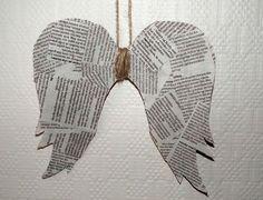 Paper angel wings