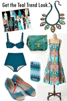 teal fashion trend | teal trend