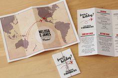 Travel Map DIY printable wedding invitation by StationeryPolkadot