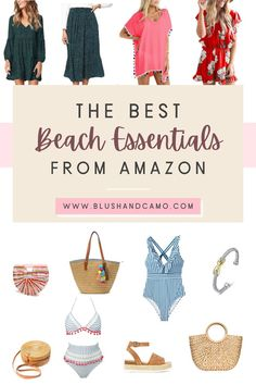 The BEST Beach and Summer Essentials From Amazon that won't break your fashion or style budget #amazonfashion #fashionblogger #summerfashion #summerstyle