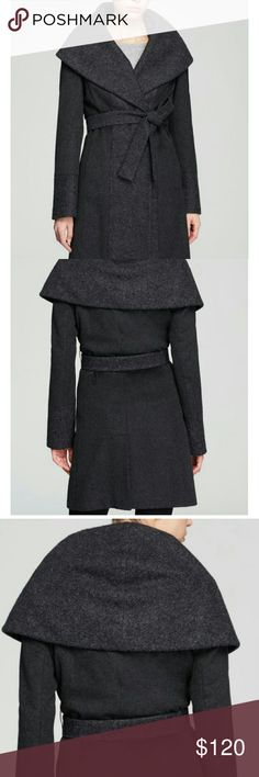 Calvin Klein| Charcoal Belted Wool Coat Please see 4th picture for details. I have these in black also. So Chic and elegant. Staple piece at a steal! Currently selling at Bloomingdales. Calvin Klein Jackets & Coats