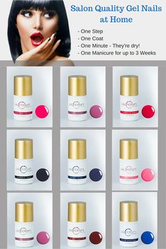 Twelve of the exciting 15 colors available to you. #GelMoment #GelPolish