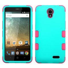 MYBAT TUFF ZTE Prestige 2 4G LTE Case - Teal Green/Pink