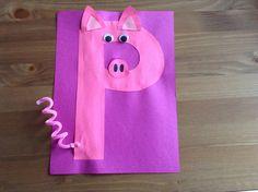Letter P Crafts İdeas for Preschool - Preschool Crafts Letter P Activities, Alphabet Letter Crafts, Abc Crafts, Preschool Letters, Toddler Crafts, Letter Art, Preschool Activities, Letter Tracing, Alphabet Book