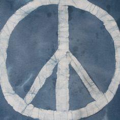 Tie Dye Batik Peace Symbol T shirt