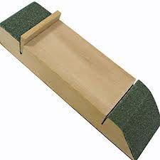 wooden sanding block and sandpaper.